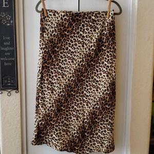 Love Sadie elastic waist leopard skirt